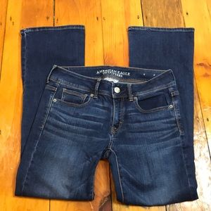 American Eagle Dark Wash Kick Boot Bootcut Jeans